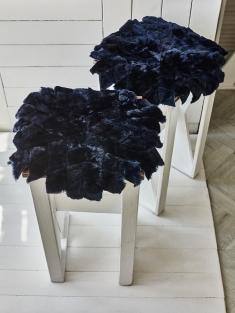 Арт 211 - Подстилка на стул круглая Темная